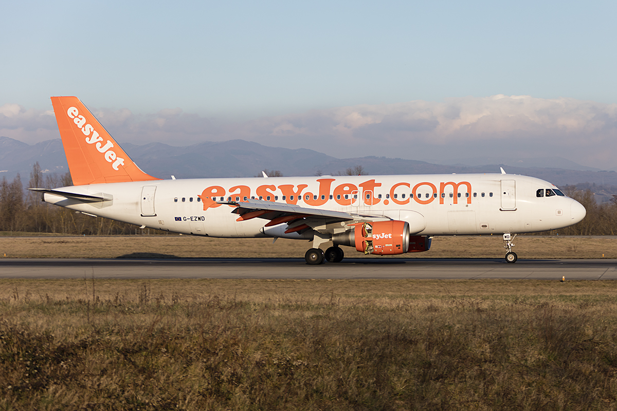 EasyJet, G-EZWD, Airbus, A320-214, 14.02.2018, BSL, Basel, Switzerland