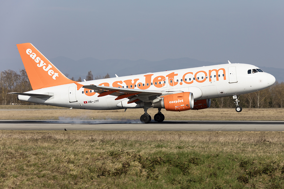 EasyJet, HB-JYF, Airbus, A319-111, 15.03.2017, BSL, Basel, Switzerland