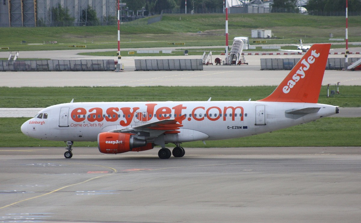 EasyJet,G-EZBM,(c/n 3059),Airbus A319-111,02.05.2014,HAM-EDDH,Hamburg,Germany(Sticker:Edinburgh)