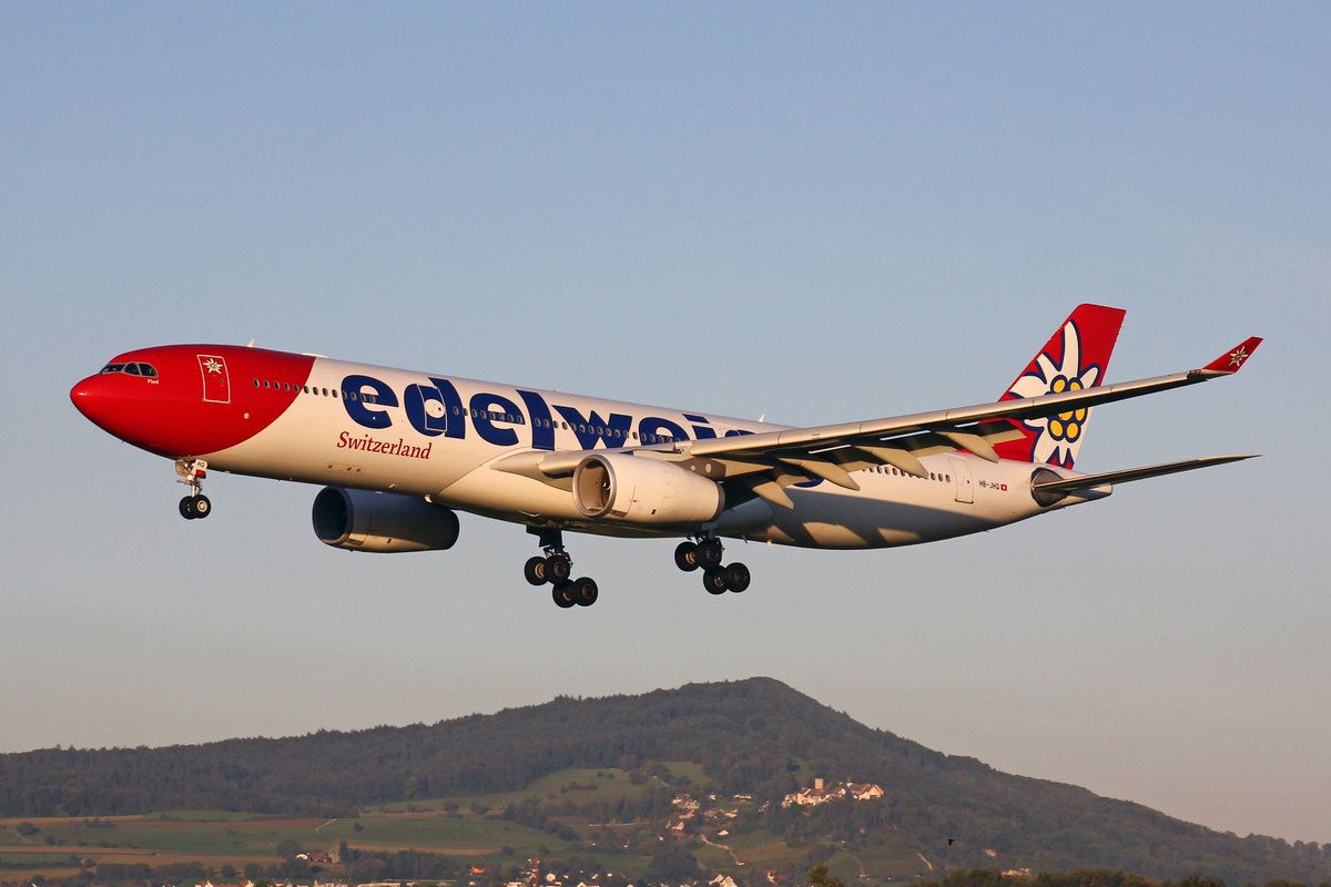 Edelweiss Air, HB-JHQ, Airbus A330-343X, msn: 1193,  Chamsin , 20.September 2019, ZRH Zürich, Switzerland.