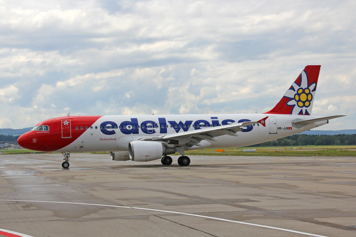 Edelweiss Air, HB-JJM, Airbus A320-214, msn: 2627,  Brienzer Rothorn , 11.Juli 2020, ZRH Zürich, Switzerland.