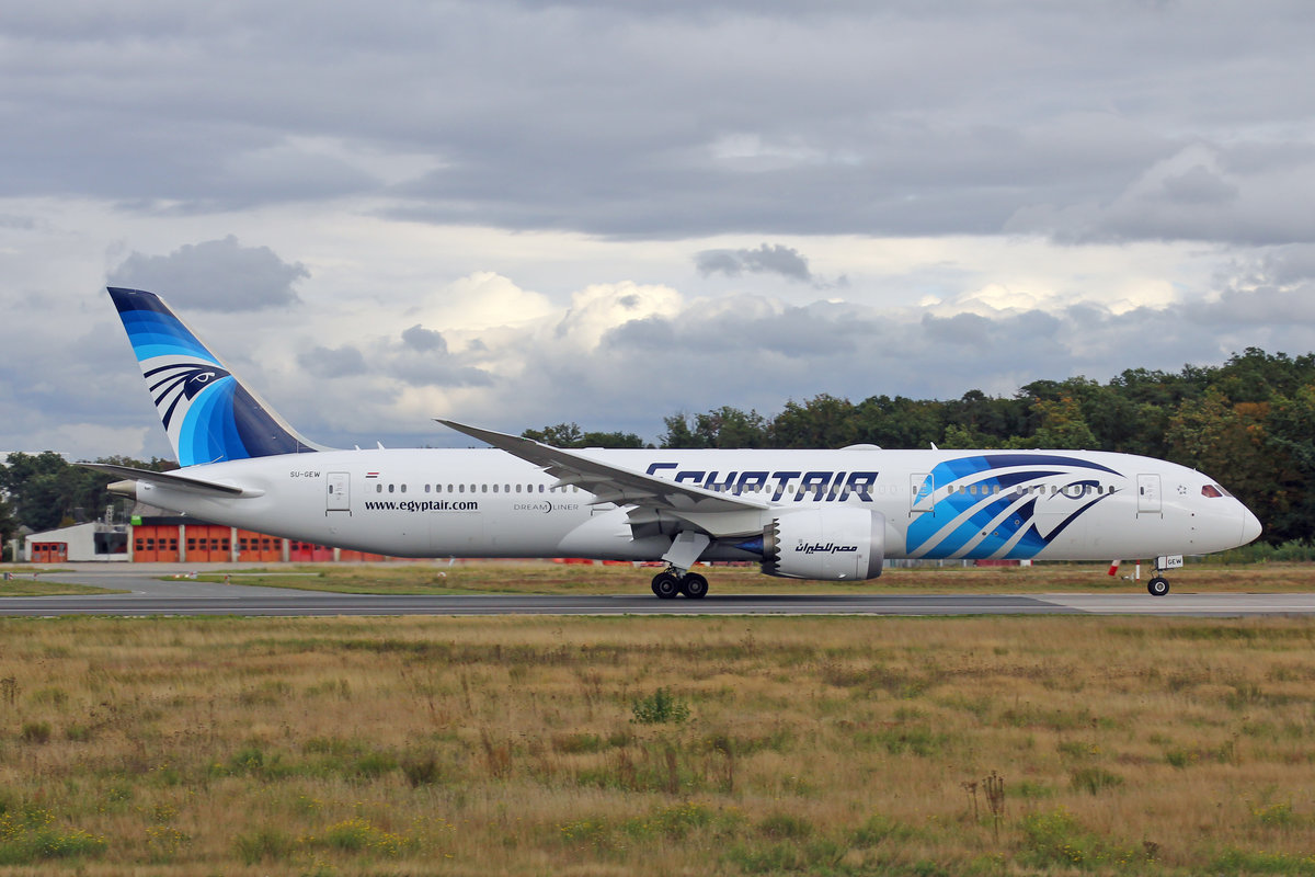 Egypt Air, SU-GEW, Boeing 787-9, msn: 65093/885, 28.September 2019, FRA Frankfurt, Germany.