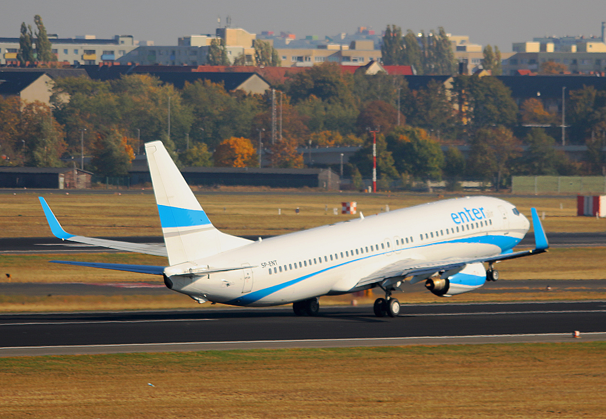 Enter Air, Boeing B 737-8AS, SP-ENT, TXL,11.10.2018