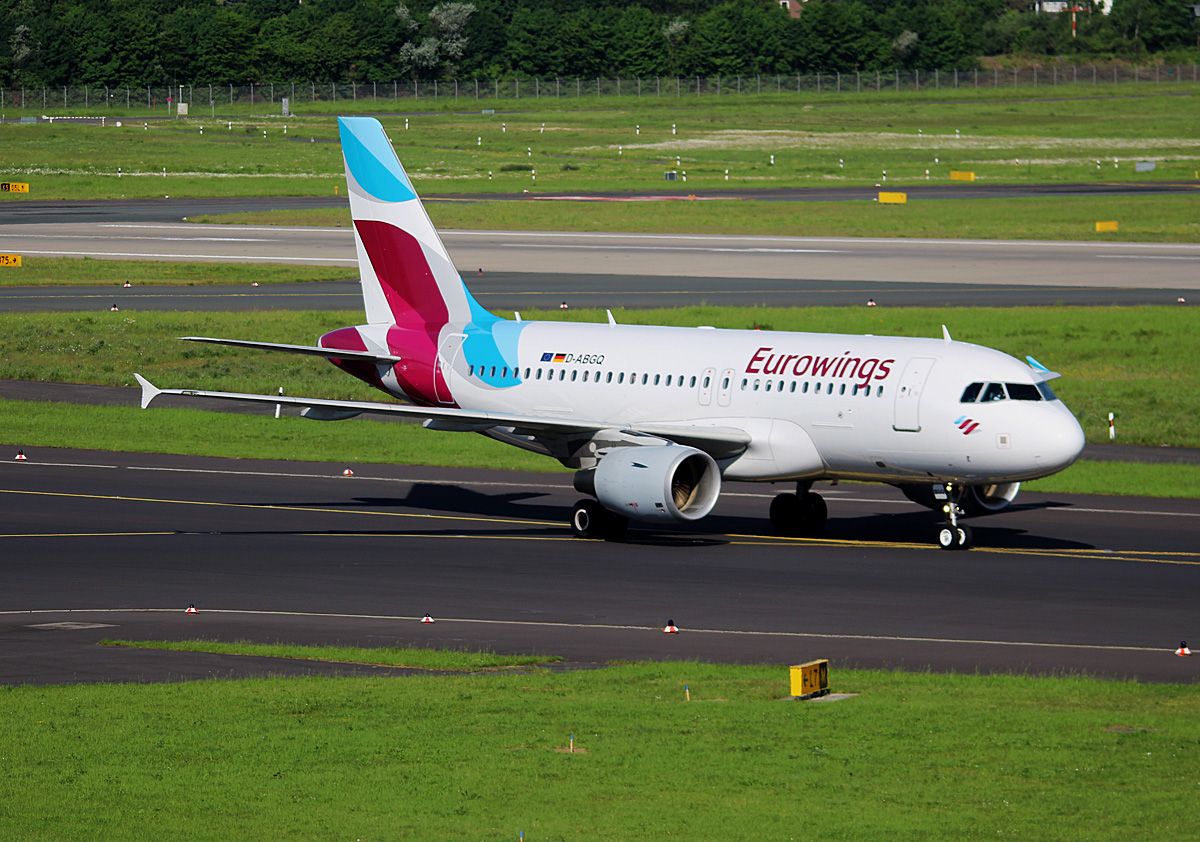 Eurowings, Airbus A 319-112, D-ABGQ, DUS, 17.05.2017