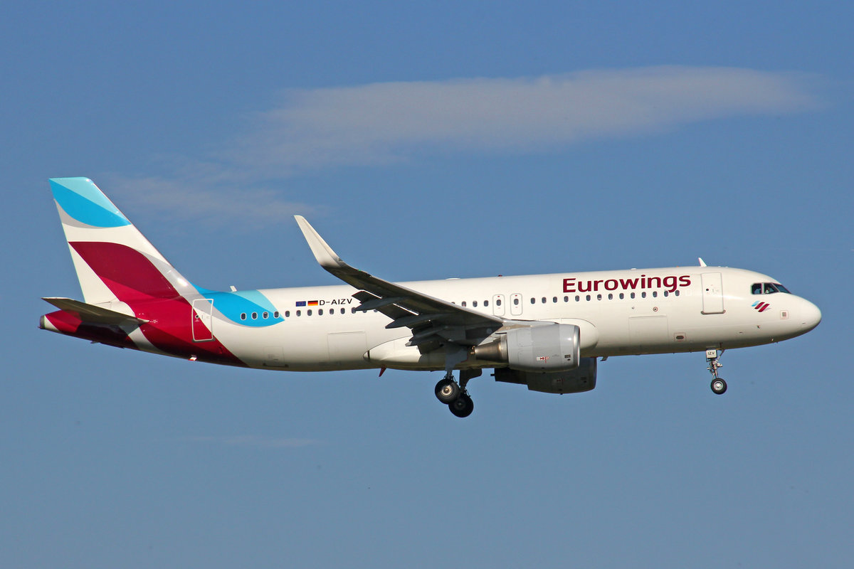 Eurowings, D-AIZV, Airbus A320-214 SL, 29.September 2016, ZRH Zürich, Switzerland.