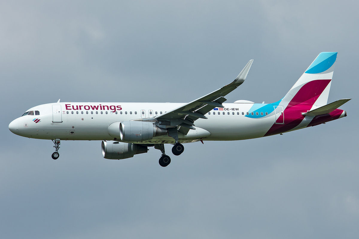 Eurowings Europe, OE-IEW, Airbus, A320-214, 01.05.2019, MUC, München, Germany