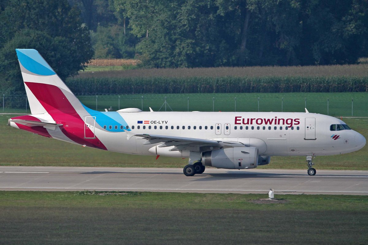Eurowings Europe, OE-LYV, Airbus, A 319-132, MUC-EDDM, München, 05.09.2018, Germany
