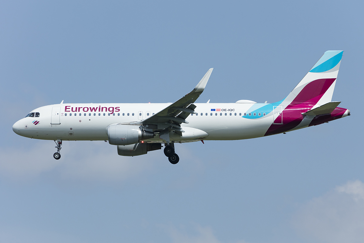 Eurowings, OE-IQC, Airbus, A320-214, 01.05.2019, MUC, München, Germany