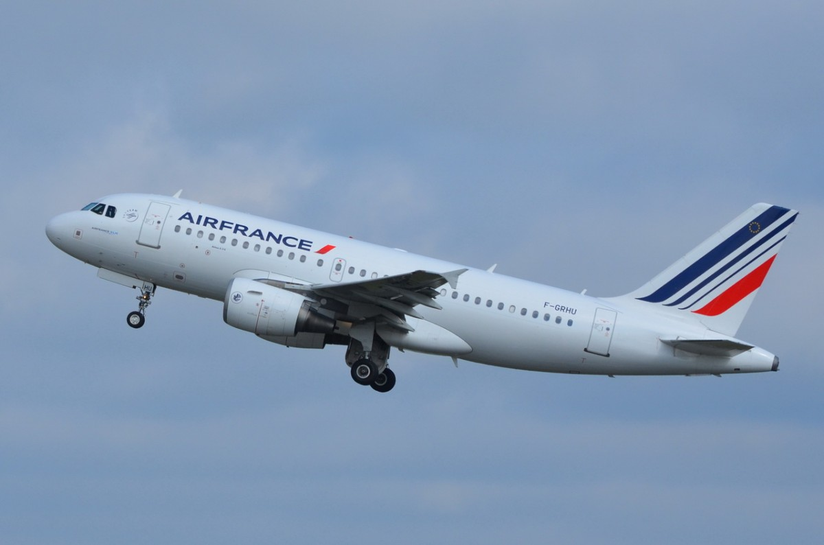 F-GRHU Air France Airbus A319-111    in Tegel am 20.08.2014 gestartet