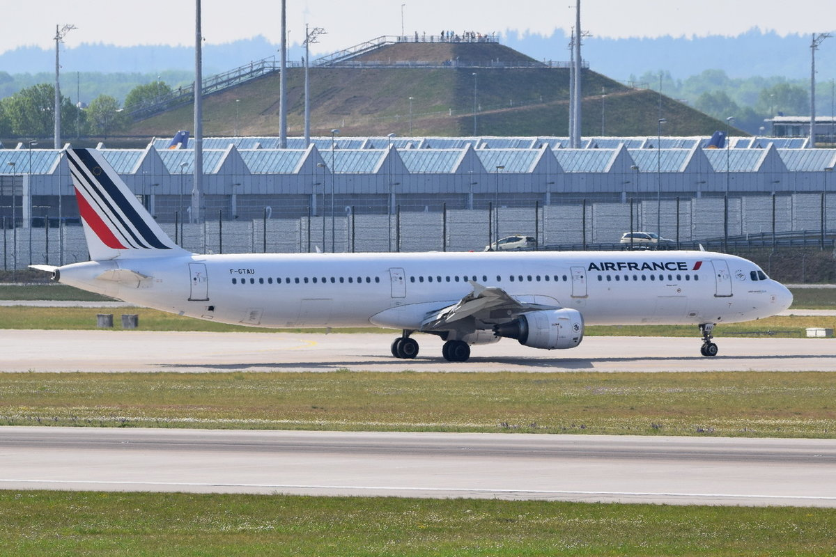 F-GTAU Air France Airbus A321-212  , 11.05.2018 , MUC