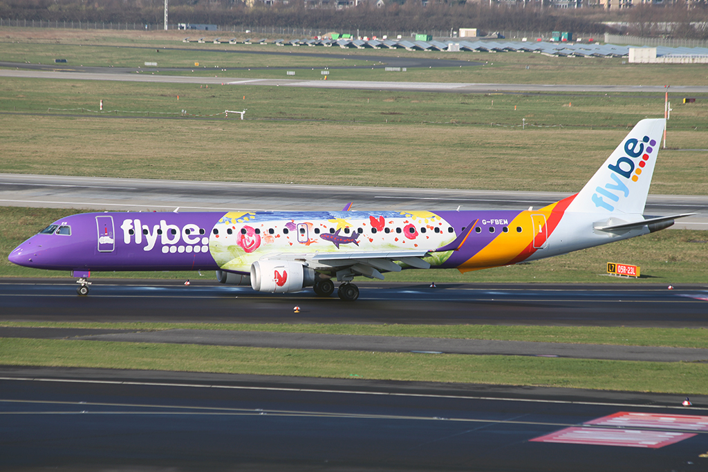 Flybe Embrear (Reg. G-FBEM) in Düsseldorf am 18.01.2016