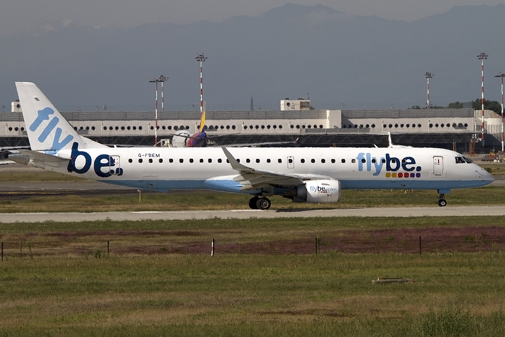 Flybe, G-FBEM, Embrear, 195LR, 14.09.2013, MXP, Mailand, Italy