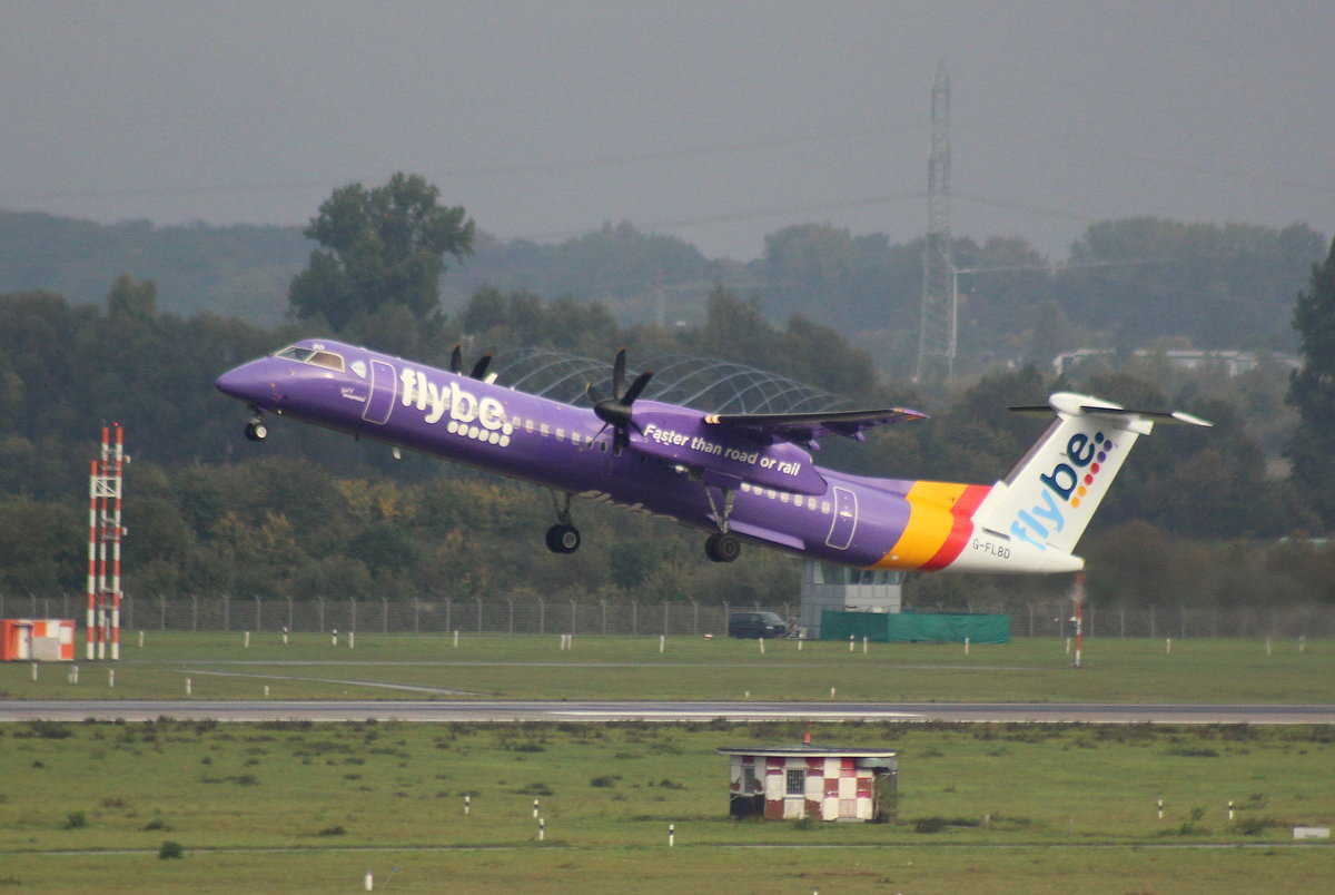 Flybe, G-FLBD, MSN 4259, De Havilland Canada DHC8-402Q Dash 8, 08.10.2017, DUS-EDDL, Düsseldorf, Germany (Name: The Mary Peters)