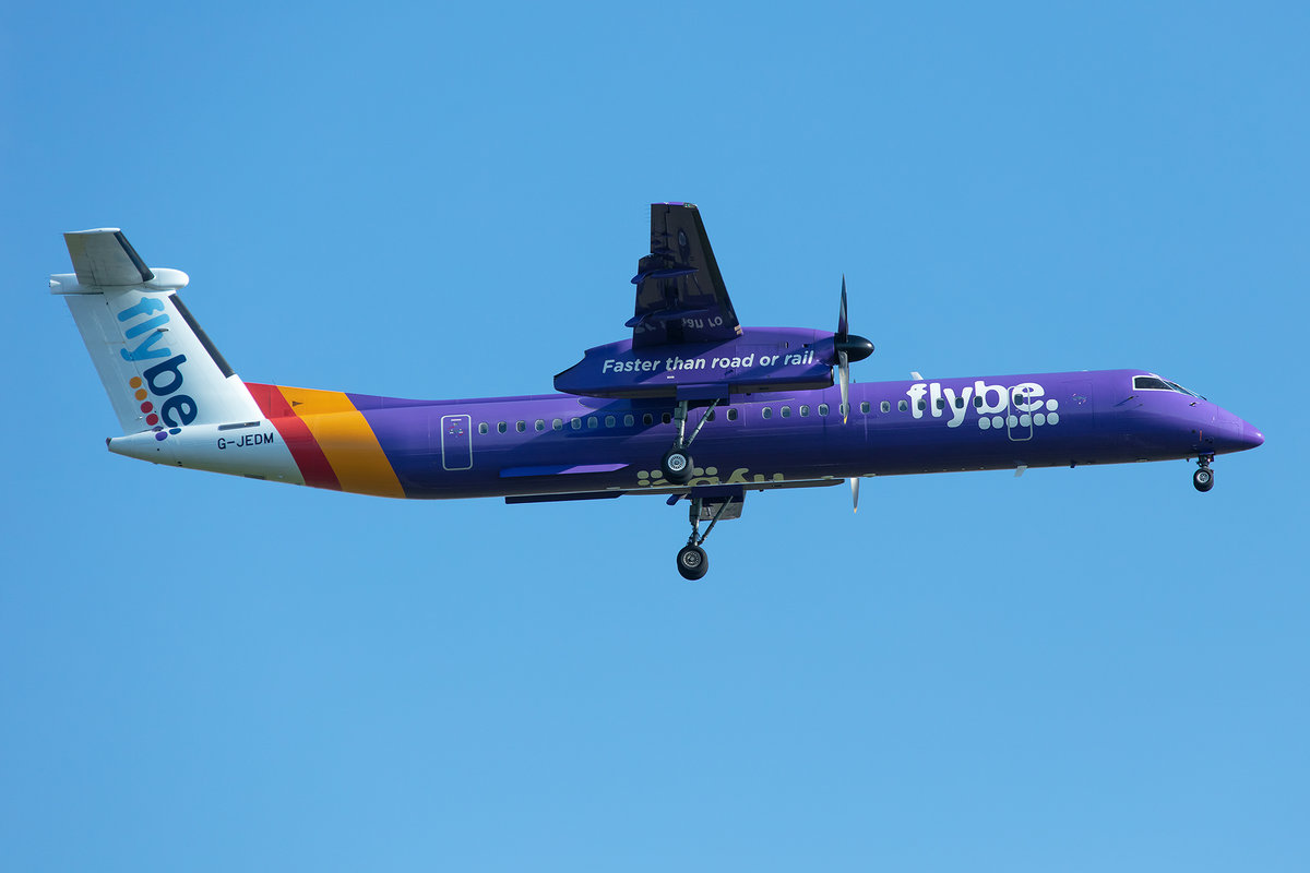 Flybe, G-JEDM, Bombardier, Dash 8 Q402, 13.05.2019, CDG, Paris, France