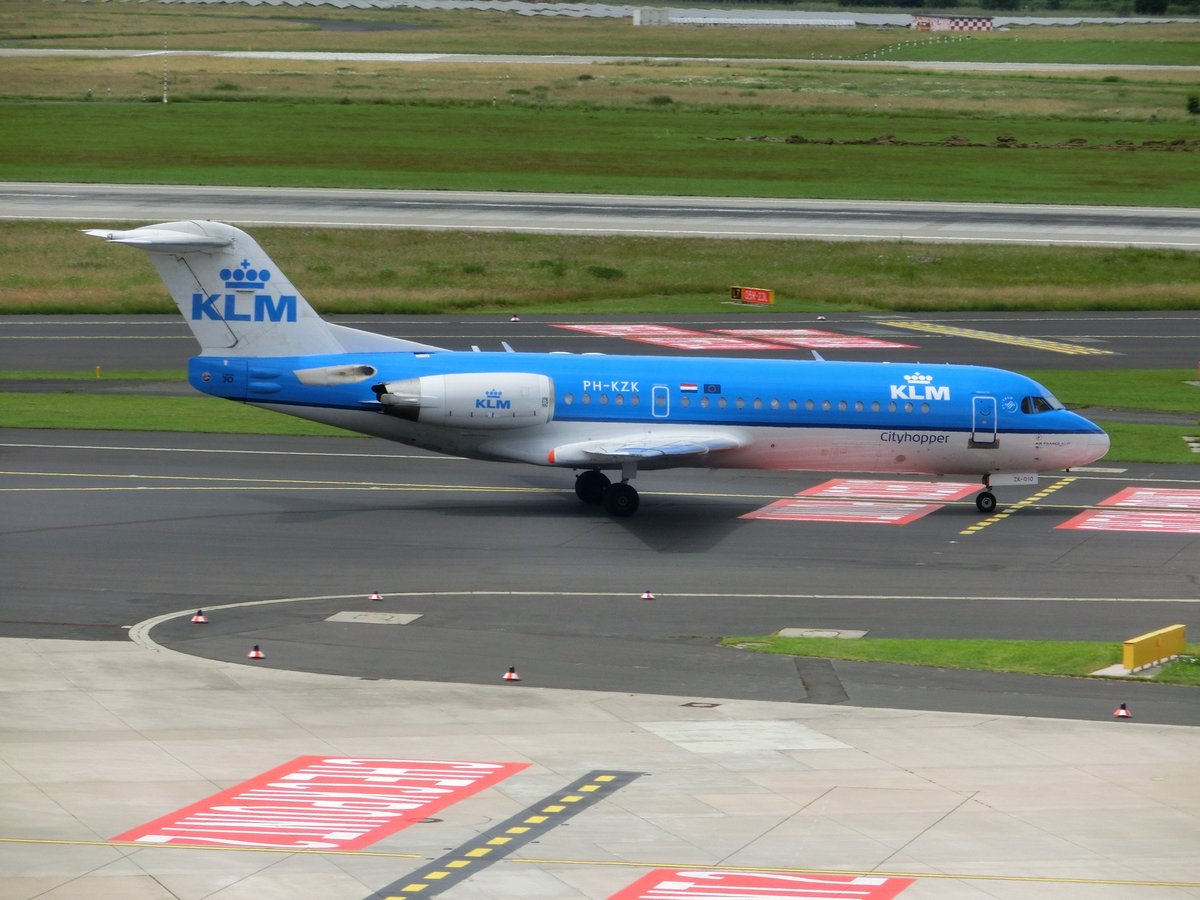 Fokker 70 F28-0070 - WA KLC KLM City-Hopper - 11581 - PH-KZK - 16.06.2016 - EDDL