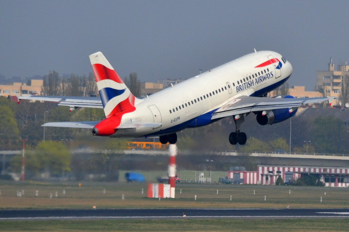G-EUPR British Airways Airbus A319-131    03.04.2014 Start in Tegel