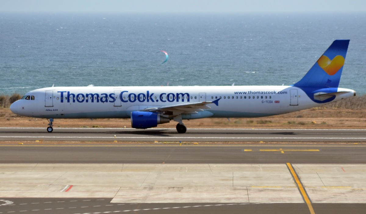 G-TCDX Thomas Cook Airlines Airbus A321-211 gelandet am 22.12.2015, in Arrecife Lanzarote