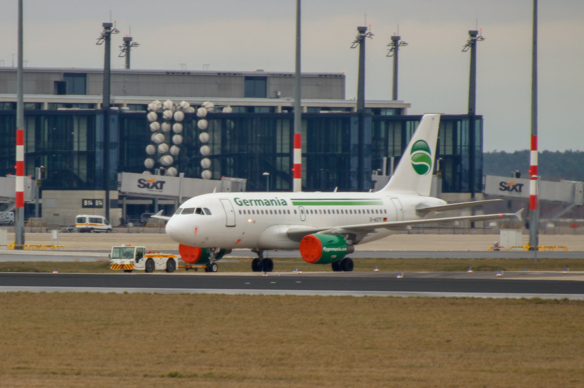 Germania, Airbus A 319-112, D-ASTF, SXF, 22.02.2019