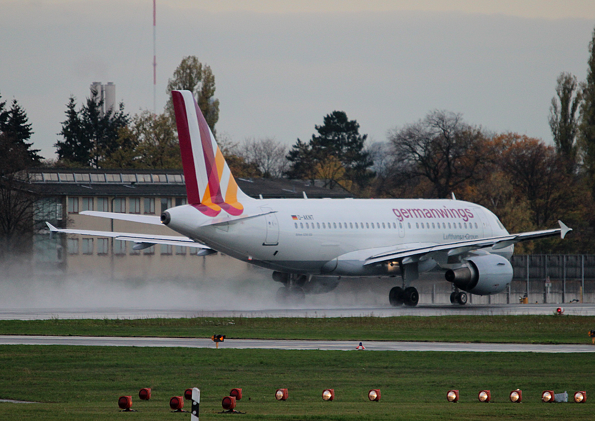 Germanwings A 319-112 D-AKNT beim Start in Berlin-Tegel am 09.11.2013