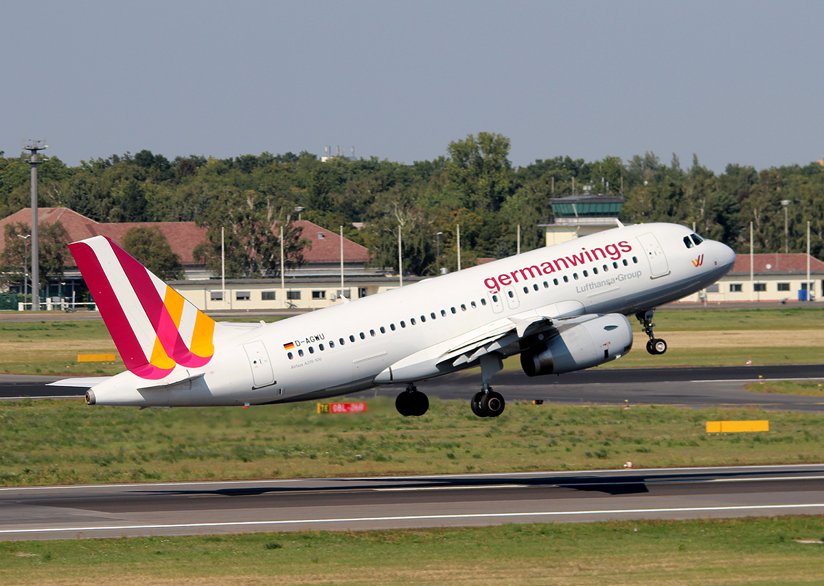 Germanwings A 319-132 D-AGWU beim Start in Berlin-Tegel am 06.09.2013