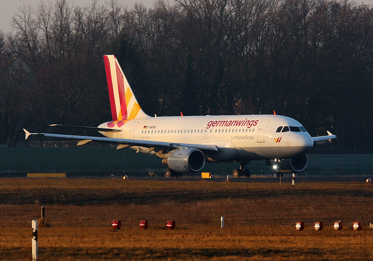 Germanwings, Airbus A 319-112, D-AKNK, TXL, 29.01.2017