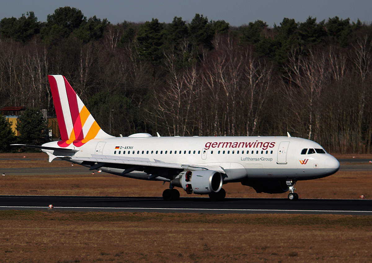 Germanwings, Airbus A 319-112, D-AKNV, TXL, 04.03.2017