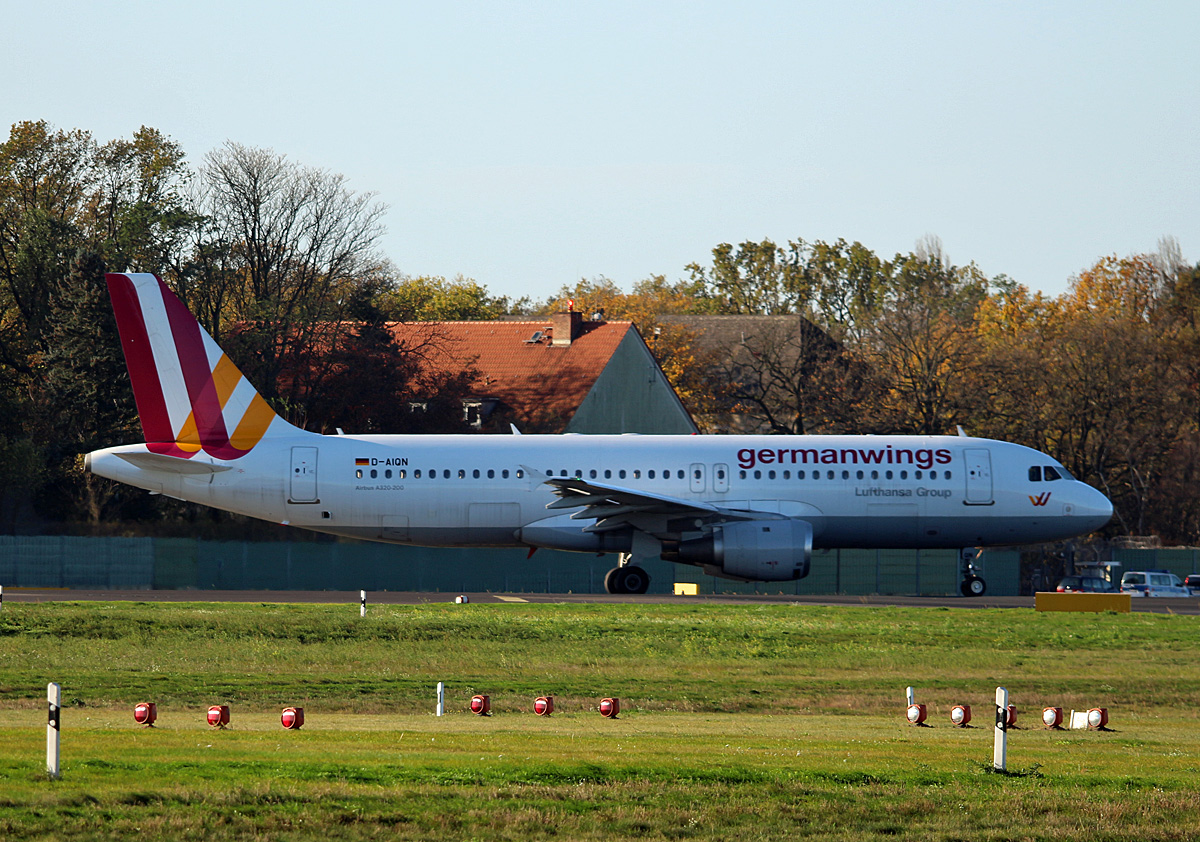 Germanwings, Airbus A 320-211, D-AIQN, ZXL, 30.10.2017