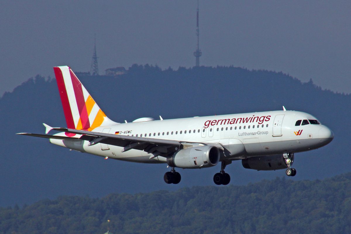 Germanwings, D-AGWC, Airbus A319-132, msn: 2976, 29.Juli 2017, ZRH Zürich, Switzerland.