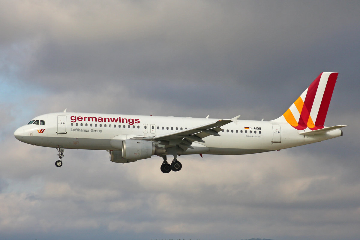 Germanwings, D-AIQN, Airbus A320-211, 7.August 2017, ZRH Zürich, Switzerland.