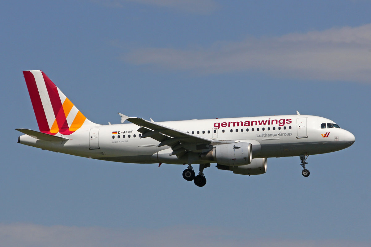 Germanwings, D-AKNF, Airbus A319-112, msn: 646, 29.April 2018, ZRH Zürich, Switzerland.
