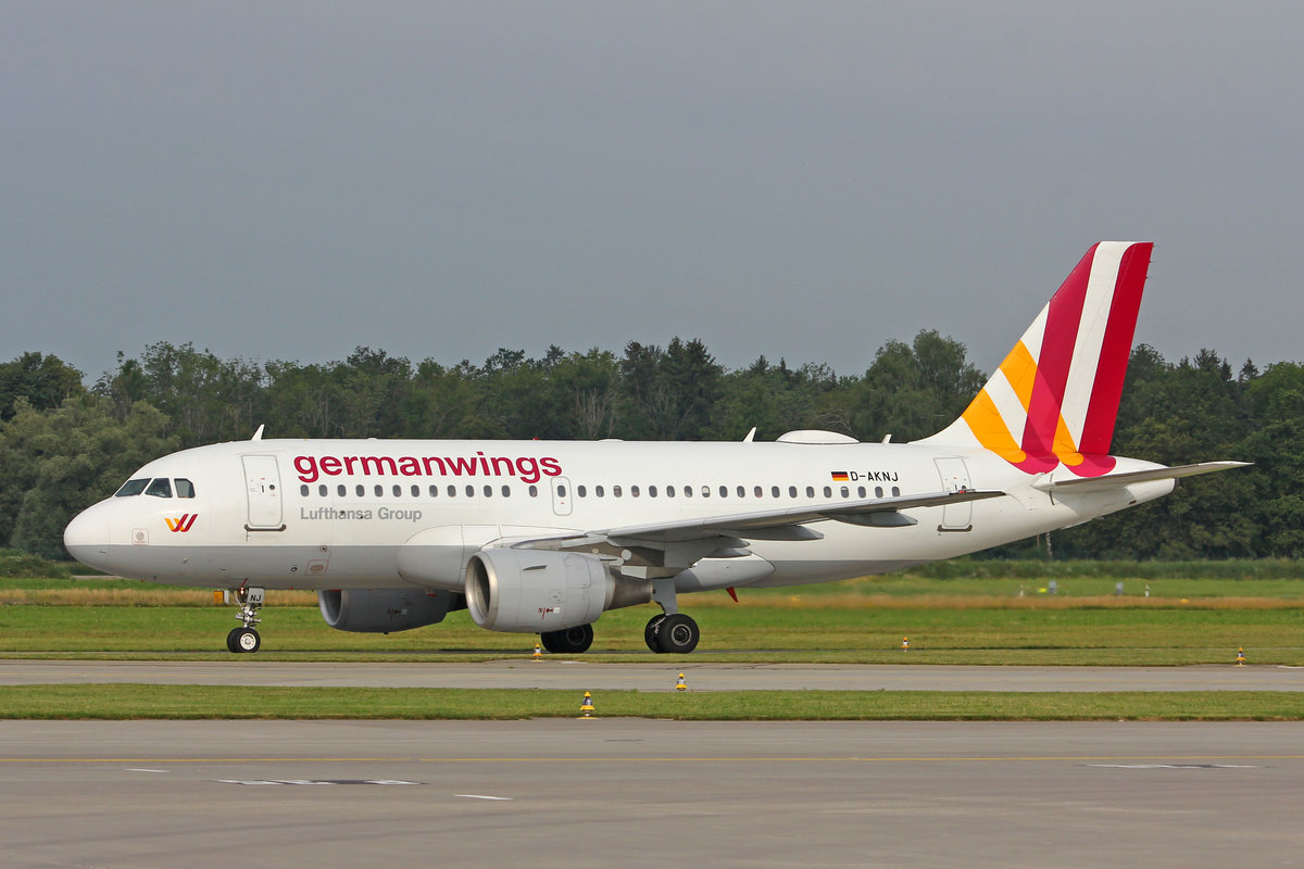 Germanwings, D-AKNJ, Airbus A319-112, msn: 1172, 06.Juli 2019, ZRH Zürich, Switzerland.