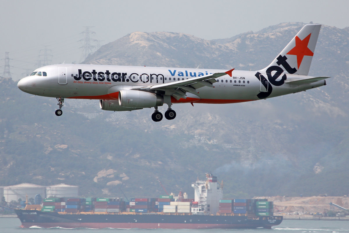Jetstar Asia, 9V-JSN, Airbus A320-232, msn: 4914, 18.April 2014, HKG Hong Kong.