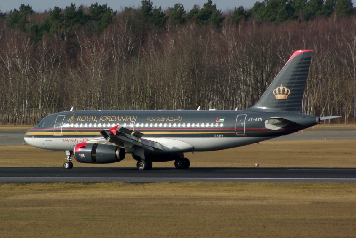 JY-AYN Royal Jordanian Airline  Airbus A319-132     17.02.2013  Berlin-Tegel