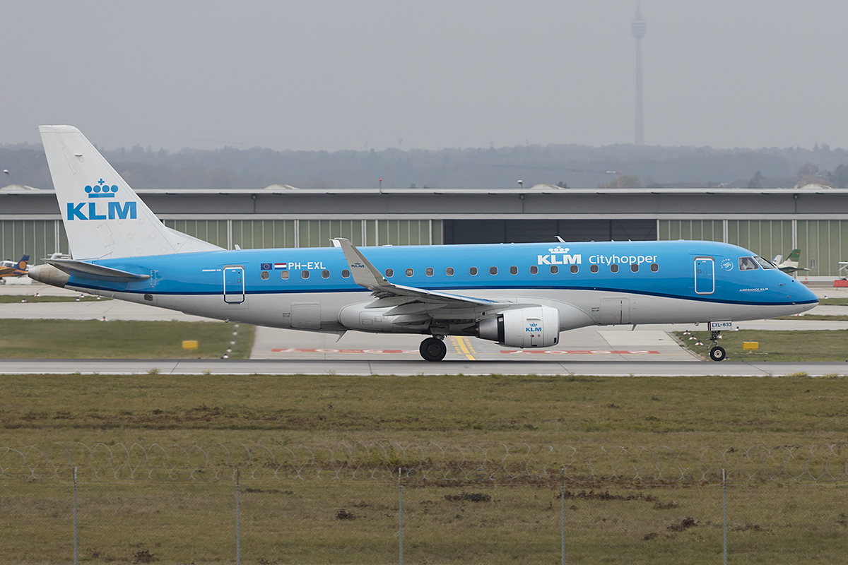 KLM - Cityhopper, PH-EXK, Embraer, 175, 04.11.2018, STR, Stuttgart, Germany