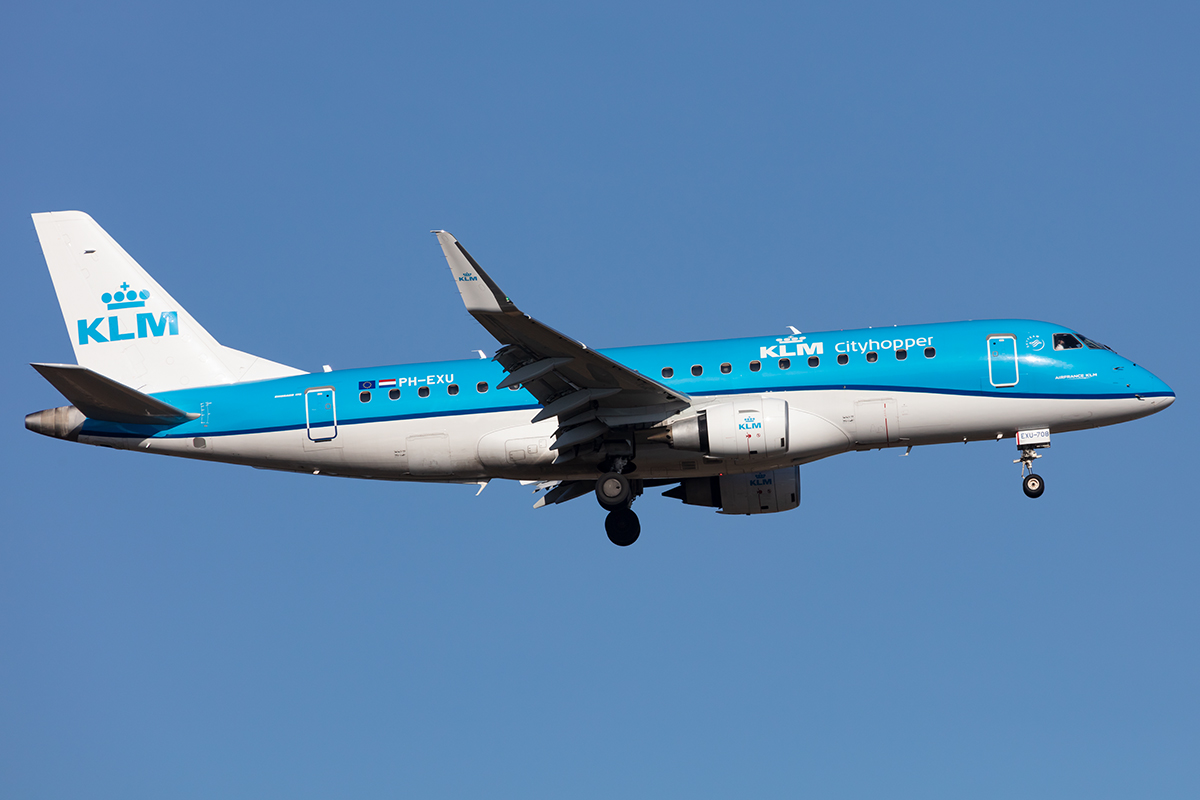 KLM-Cityhopper, PH-EXU, Embraer, EMB-190, 14.02.2021, FRA, Frankfurt, Germany