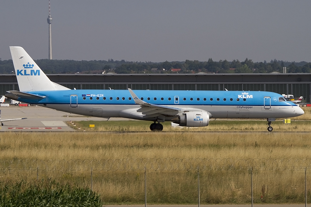 KLM - Cityhopper, PH-EZR, Embraer, 190LR, 24.07.2015, STR, Stuttgart, Germany
