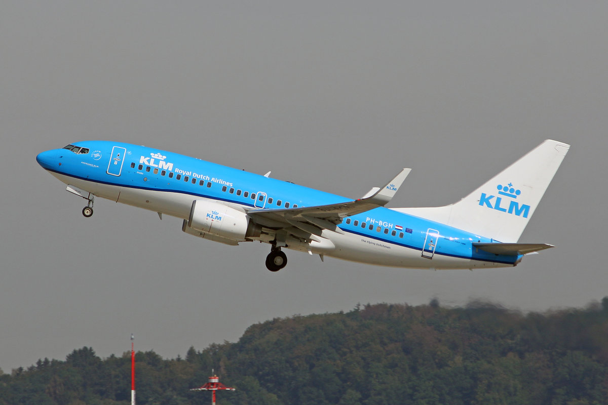 KLM Royal Dutch Airlines, PH-BGH, Boeing 737-7K2, msn: 38053/3119,  Grutto / Godwit , 10.September 2018, ZRH Zürich, Switzerland.