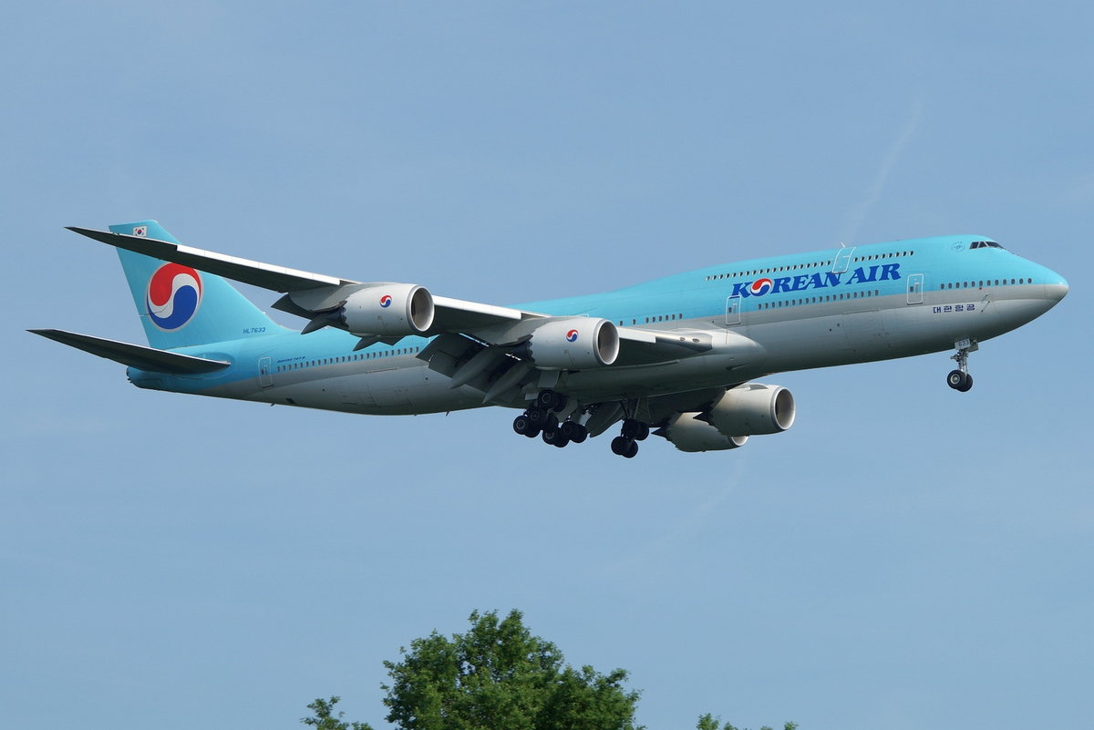 Korean Air Lines Boeing B747-8B5 HL7633, cn(MSN): 40908,