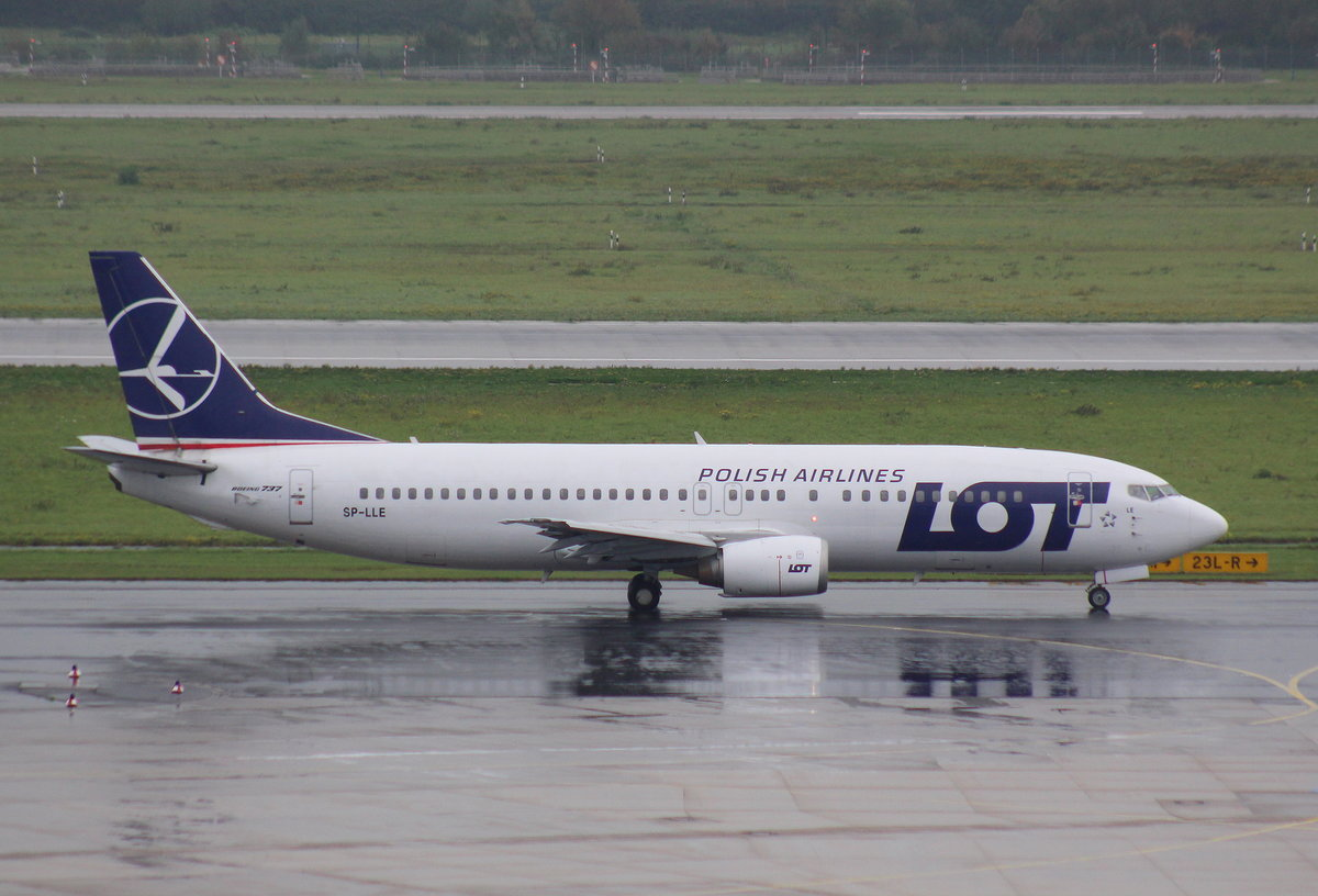 LOT Polish Airlines, SP-LLE, MSN 27914, Boeing 737-45D,30.09.2017, DUS-EDDL, Düsseldorf, Germany