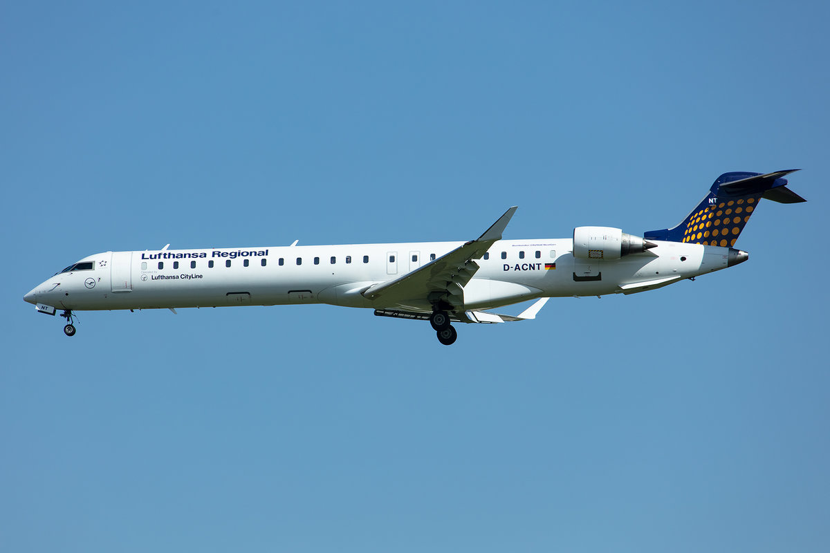 Lufthansa - CityLine, D-ACNT, Bombardier, CRJ-900NG, 02.05.2019, MUC, München, Germany