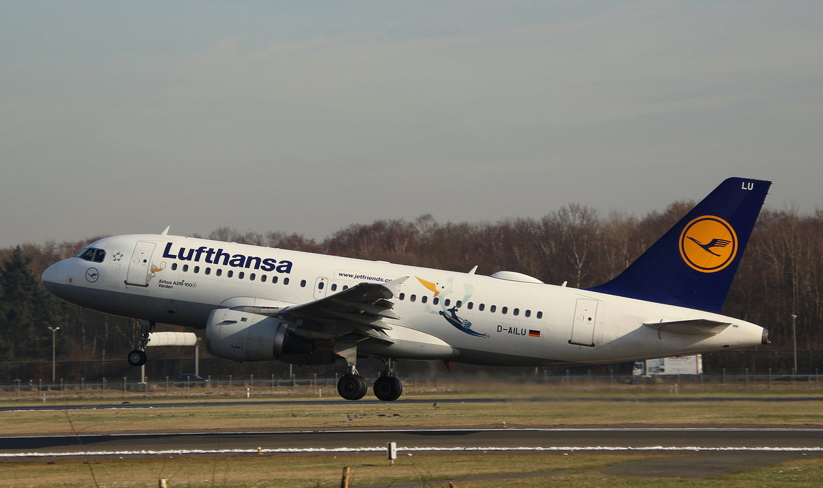 Lufthansa, D-AILU,MSN 744, Airbus A 319-114,08.02.2018, HAM-EDDH, Hamburg, Germany (Name: Verden & Sticker: Lu)