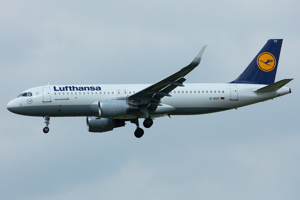 Lufthansa, D-AIUY, Airbus, A320-214, 01.05.2019, MUC, München, Germany