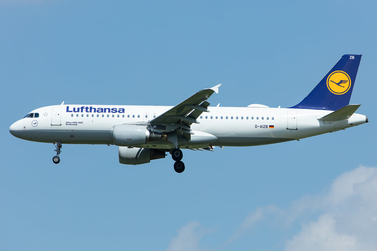Lufthansa, D-AIZB, Airbus, A320-214, 02.05.2019, MUC, München, Germany