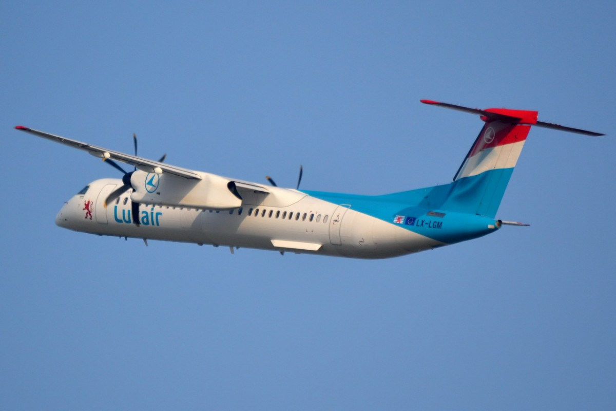 LX-LGM Luxair De Havilland Canada DHC-8-402Q Dash 8    am 03.04.2014 in Tegel gestartet
