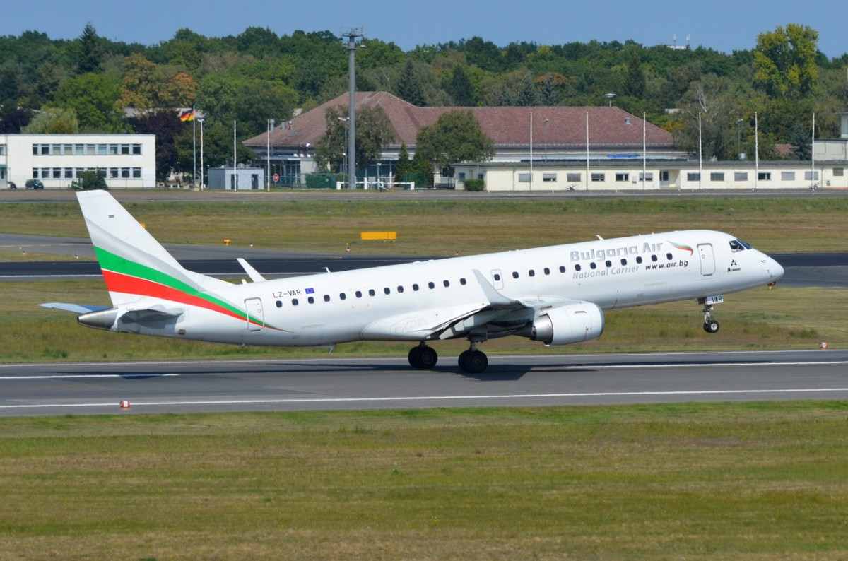 LZ-VAR Bulgaria Air Embraer ERJ-190STD (ERJ-190 bis 100)   gestartet am 03.09.2014 in Tegel