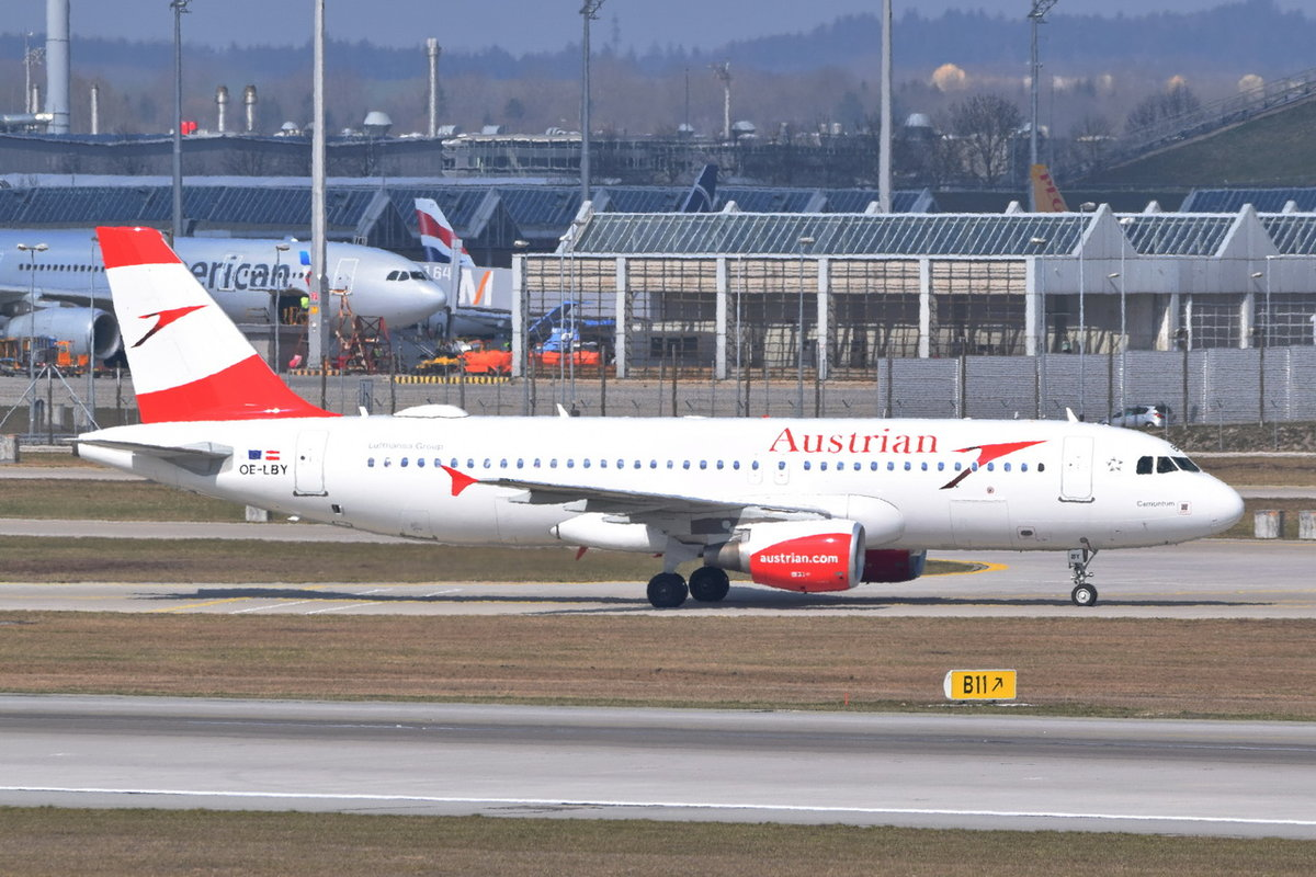 OE-LBY Austrian Airlines Airbus A320-214 , 29.03.2019 , MUC