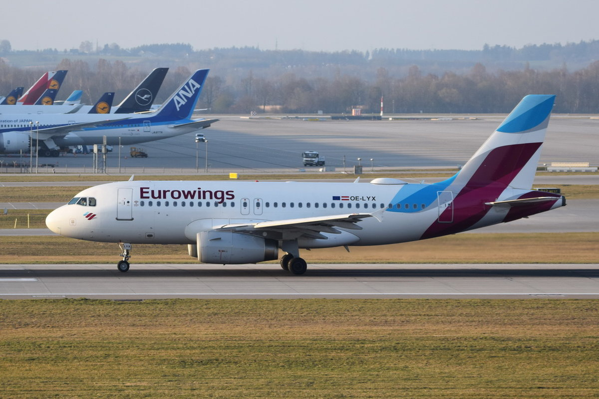 OE-LYX Eurowings Europe Airbus A319-132 , 30.03.2019 , MUC