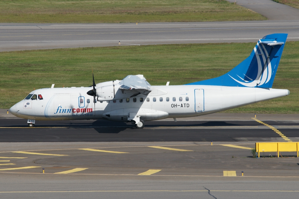 OH-ATD, ATR 42-500, Finncomm Airlines, 19.6.2013, Helsinki (HEL)
