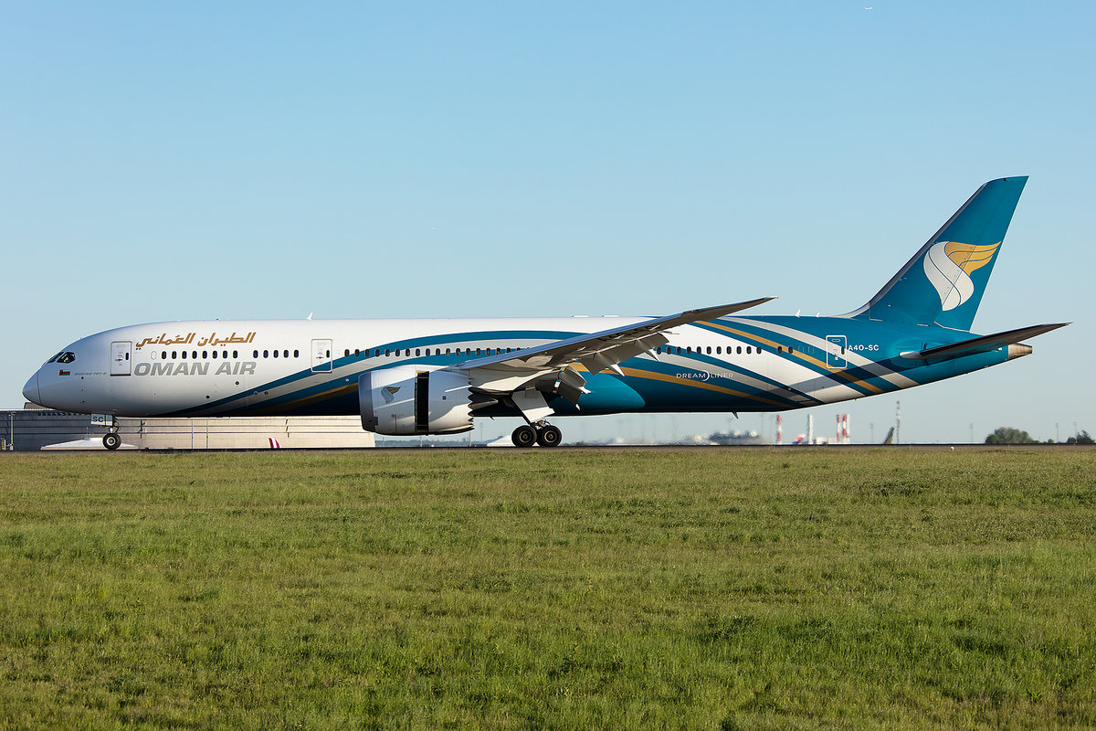 Oman Air, A4O-SC, Boeing, B787-9, 13.05.2019, CDG, Paris, France