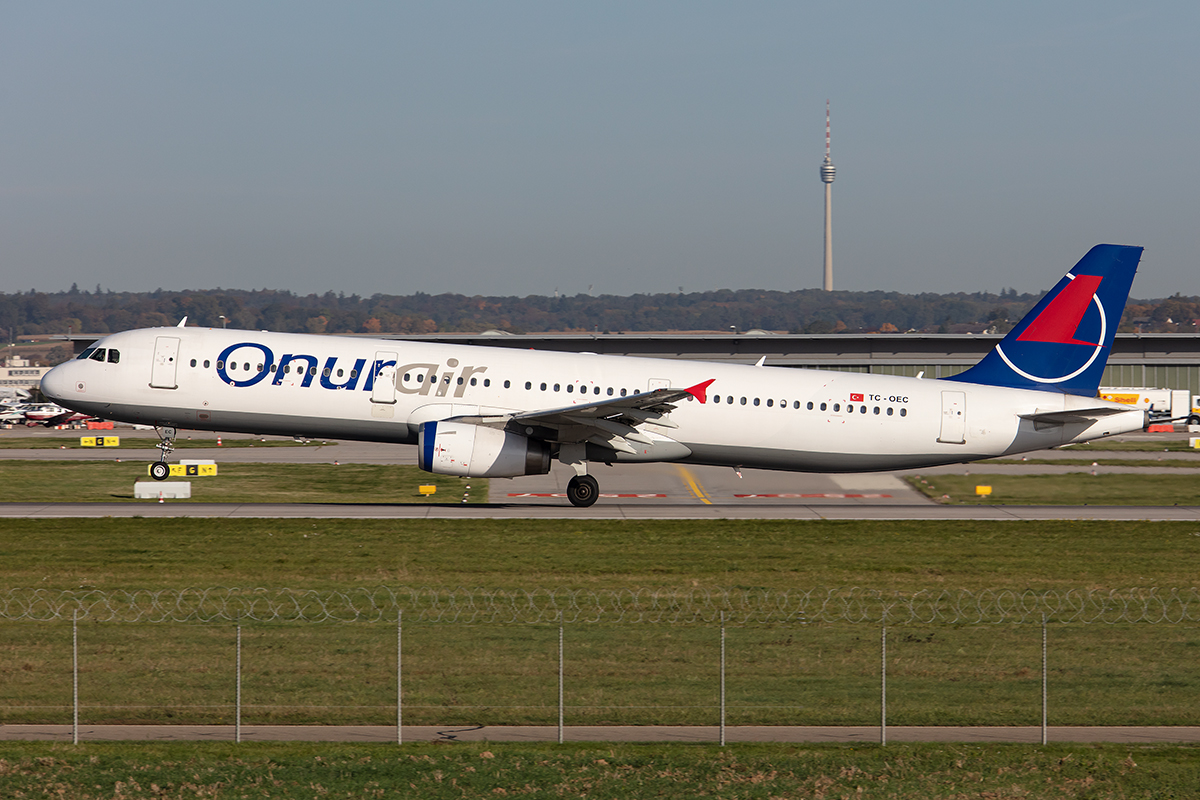 Onur Air, TC-OEC, Airbus, A321-231, 15.10.2019, STR, Stuttgart, Germany